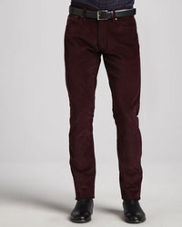 Dark Purple Corduroy Dress Pants for Men | Men's Fashion