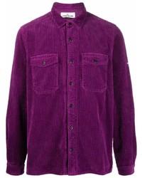 Stone Island Classic Collar Cord Shirt