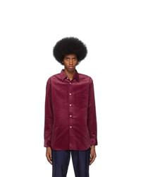Comme Des Garcons SHIRT Red Corduroy Shirt