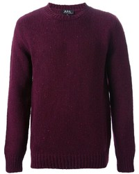 Dark Purple Crew-neck Sweater