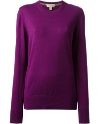 Dark purple crew neck sweater original 9649603