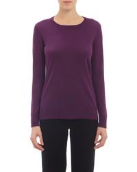 Barneys New York Crewneck Sweater Purple