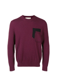 Marni Cashmere Elbow Patch Sweater