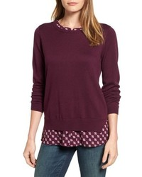 Layered look sweater medium 4913474