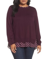 NYDJ Plus Size Layer Look Sweater