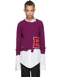 Raf Simons Purple Destroyed B Sweater