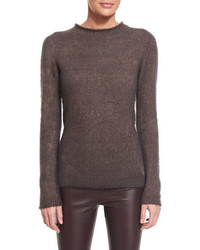 The Row Iselle Roll Neck Sweater Dusty Violet