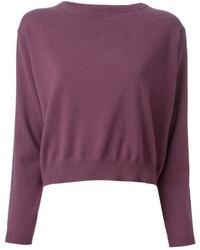 Brunello cucinelli cropped sweater medium 124797