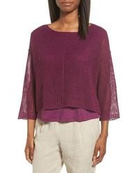 Organic linen crop sweater medium 3731431