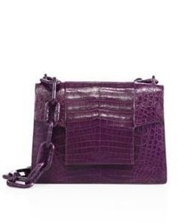 Nancy Gonzalez Medium Crocodile Chain Flap Shoulder Bag