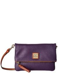 Dooney & Bourke Pebble Fold Over Zip Crossbody Cross Body Handbags