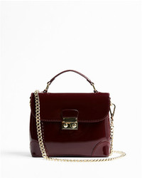 Express Top Handle Patent Crossbody Bag