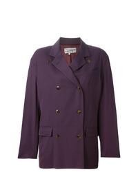 Dark Purple Double Breasted Blazer