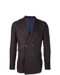 Dark Purple Double Breasted Blazer