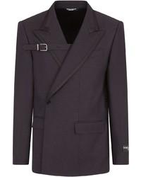 Dolce & Gabbana Asymmetric Virgin Wool Blend Blazer