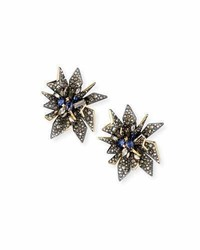 Alexis Bittar Perennial Punk Clip On Button Earrings