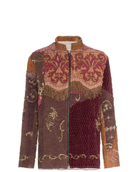 By Walid Embroidered Panel Silk Jacket