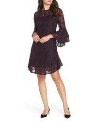 Eliza J Double Ruffle Lace Dress