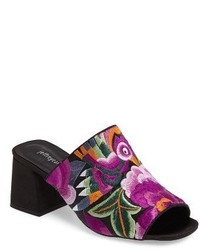 Jeffrey Campbell Perpetua Embroidered Open Toe Mule