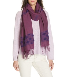 Eileen Fisher Embroidered Cotton Scarf