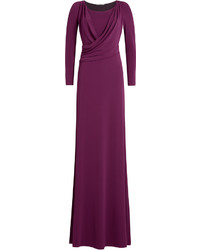 Draped evening gown medium 528415