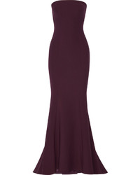 Elizabeth and James Kendra Stretch Ponte Gown Plum