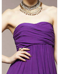 d9126569e79a ... Choies Strapless Ruched Maxi Dress In Purple ...