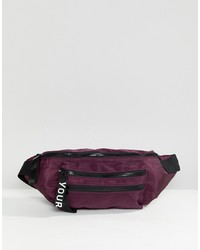 YOURTURN Bum Bag In Purple With Adjustable Strap