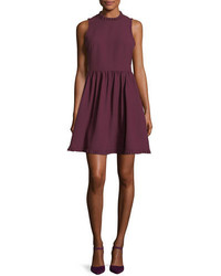 Kate Spade New York Fit And Flare Ruffled Sleeveless Day Dress