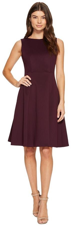 Calvin Klein Scuba Fit Flare Dress Cd7m18aw