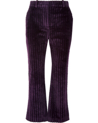 Altuzarra Adler Cropped Cotton Corduroy Flared Pants