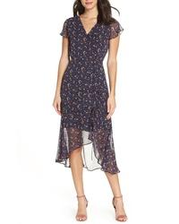 Sam Edelman Ditzy Print Ruched Midi Dress