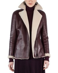 Akris Punto Shearling Lined Notch Collar Coat
