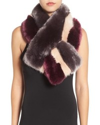 Dark Purple Fur Scarf