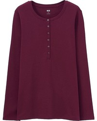 50f35612 Women's Henley Shirts from Uniqlo | Women's Fashion | Lookastic.com