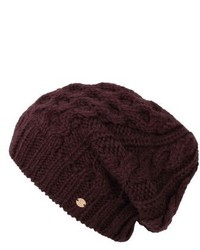 Helen Kaminski Slouchy Knit Beanie Purple