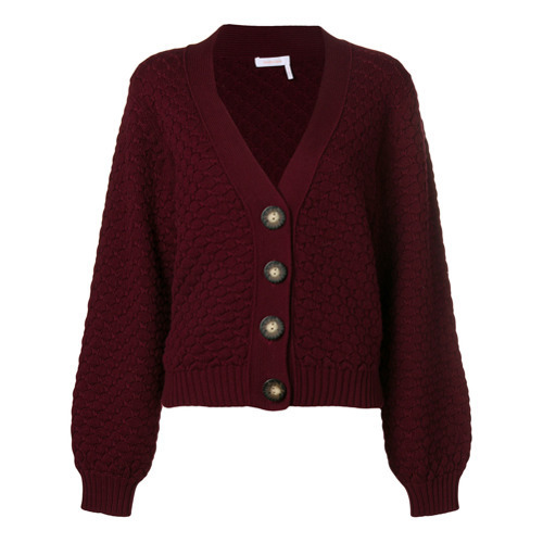 313edb45 $183, See by Chloe See By Chlo Textured Chunky Knit Cardigan