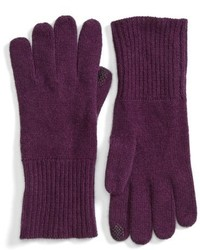 Halogen Rib Knit Cashmere Gloves