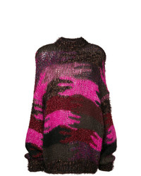Saint Laurent Camouflage Jacquard Knit Jumper