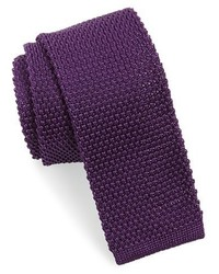 Dark Purple Knit Tie
