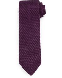 Tom Ford Diamond Pattern Knit Tie Purple