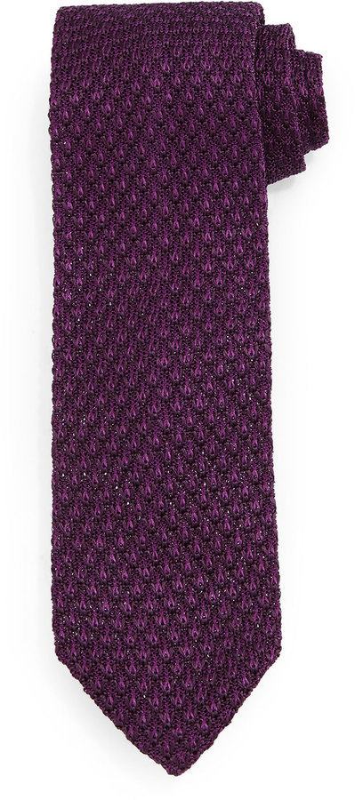 Tom Ford Diamond Pattern Knit Tie Purple Where To Buy How To Wear