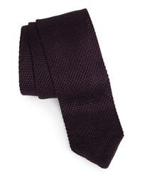 The Tie Bar Solid Knit Silk Tie