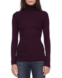 Dark Purple Knit Turtleneck