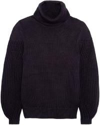 Alessandra turtleneck cotton and wool blend sweater medium 846868