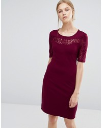 Vila Lace Insert Bodycon Dress
