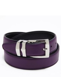 Dark Purple Leather Belt