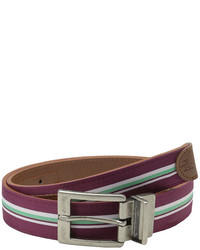Original Penguin Reversible Strip Webleather Belt