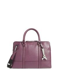 Dark Purple Leather Briefcase