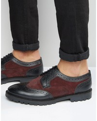 Dark Purple Leather Brogues